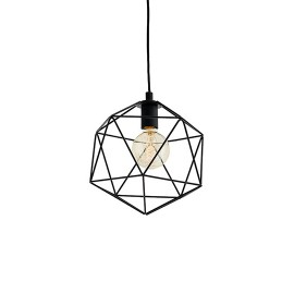Wire S Pendant Lamp Black