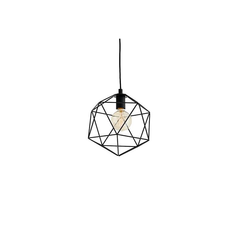 Wire S Pendant Lamp Black