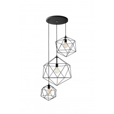 Wire Plafon 3 lampa sufitowa czarna