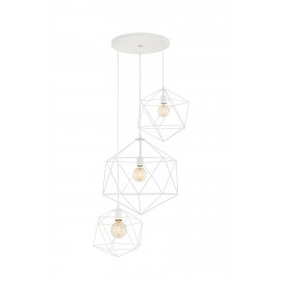 Wire Plafond 3 Pendant Lamp White