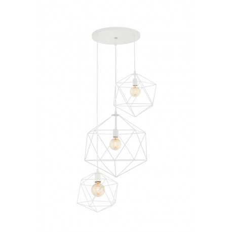 Wire Plafon 3 lampa sufitowa biała