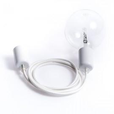 Loft metal line - 16 white lilac pendant lamp
