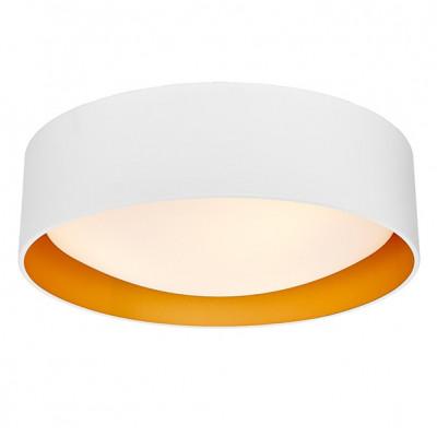Lampa sufitowa plafon VERO L abażur biały na zewnątrz złoty wewnątrz i biały klosz KASPA