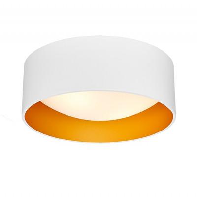 Lampa sufitowa plafon VERO S abażur biały na zewnątrz złoty wewnątrz i biały klosz KASPA