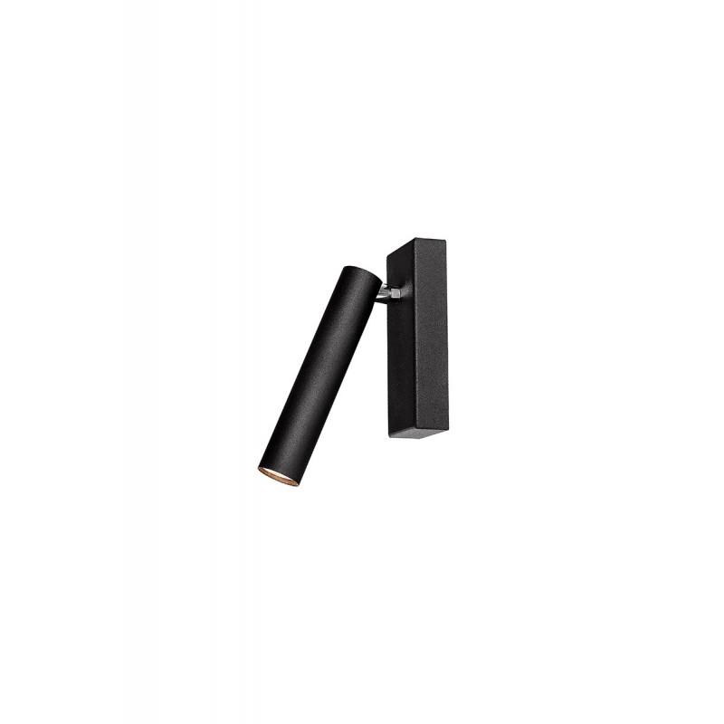 Roll 1 lampa sufitowa/kinkiet czarny