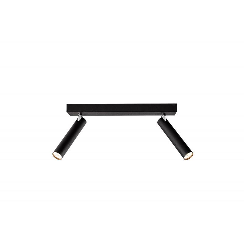 Roll 2 lampa sufitowa/kinkiet czarny