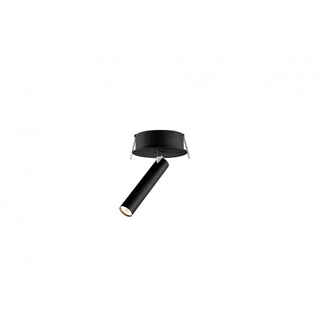 Roll 1 Ceiling-mounted light Black