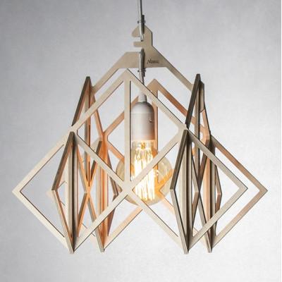 LAJT HIMMELI XL lampa wisząca ze sklejki