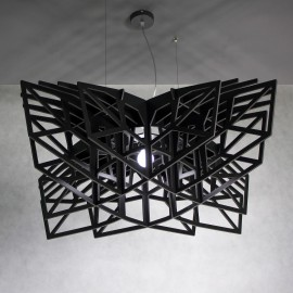 BLACK STAR large black pendant light, pendant lamp