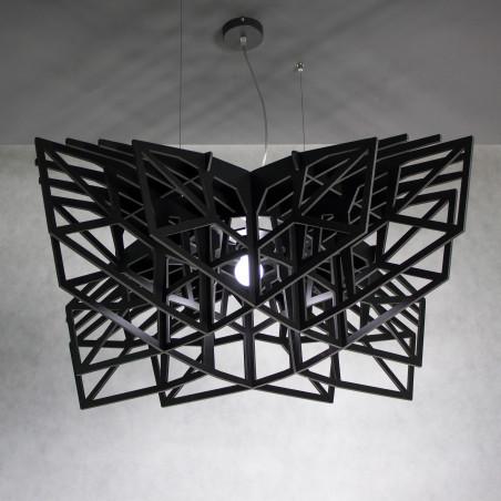 BLACK STAR large black pendant light, pendant lamp