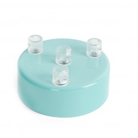 Metal ceiling cup lacquered in light blue - four cables