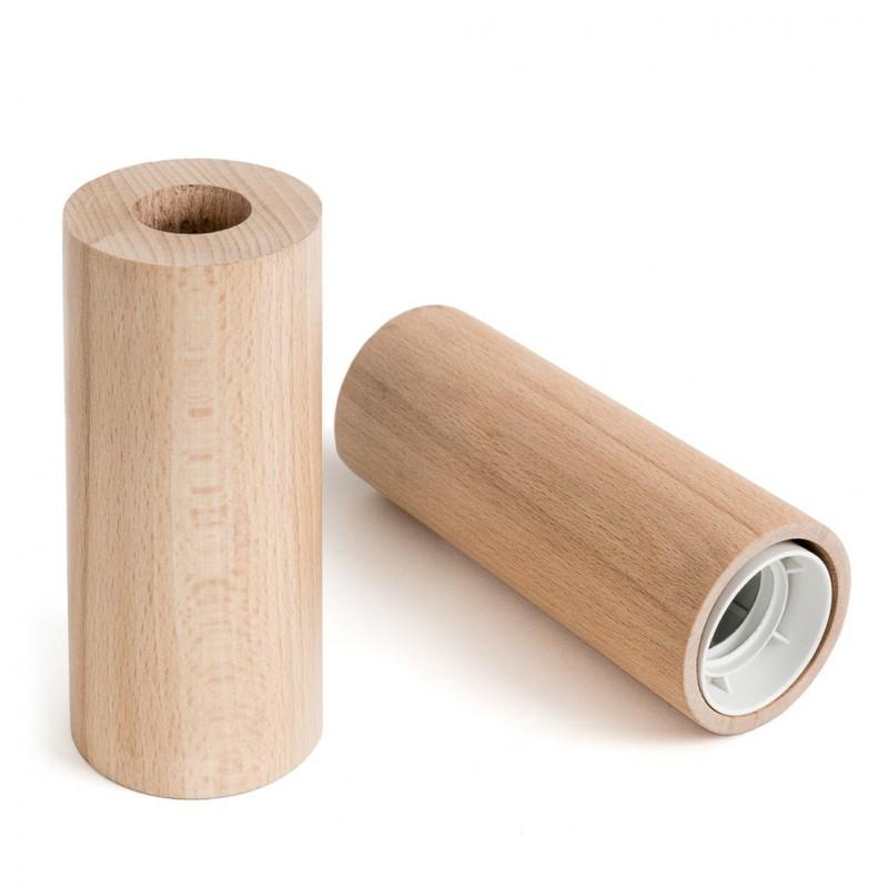 Oprawka drewniana E27 typ B z dużym otworem