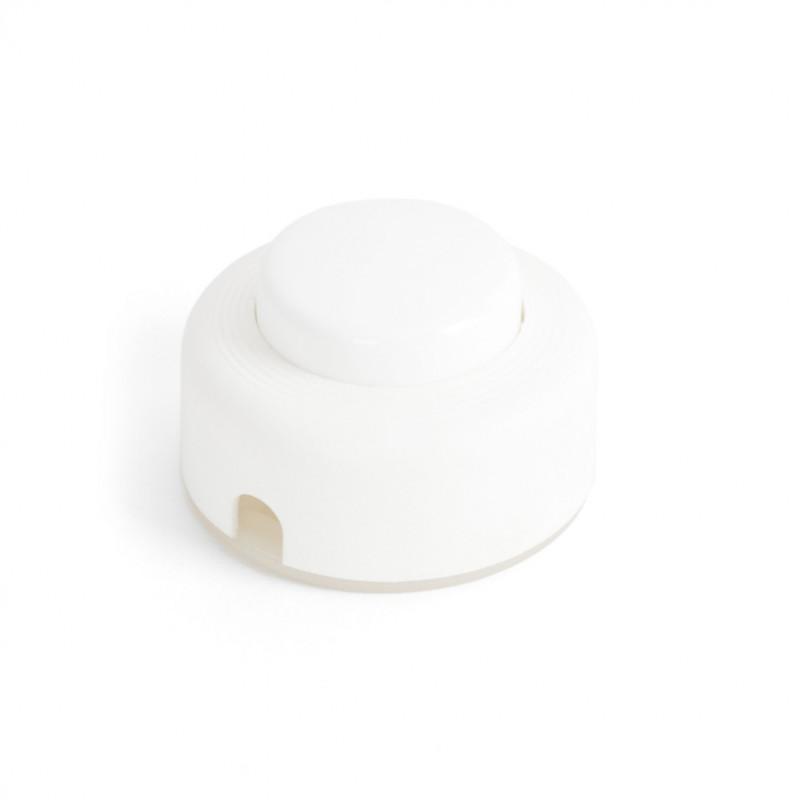 Przełącznik światła nożny w kolorze białym