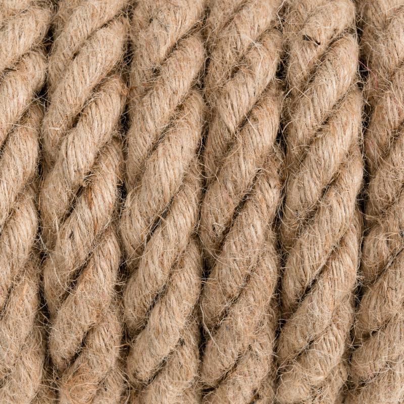Gruba lina konopna z przewodem średnica Kolorowe Kable