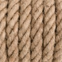 Natural hemp rope K01 with round electric cable 2x0.75, diameter 30mm