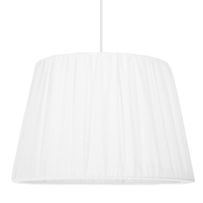 Abażur Elegance Drapowany biały prążkowany Ø40cm