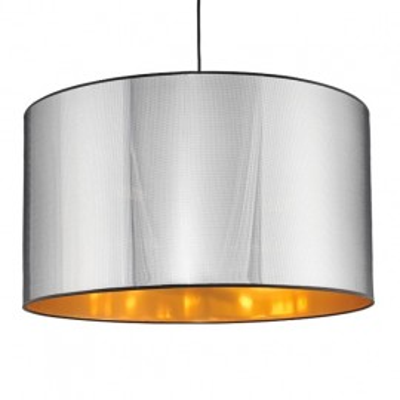 GLAM lampa sufitowa chrom/czarny/złoty