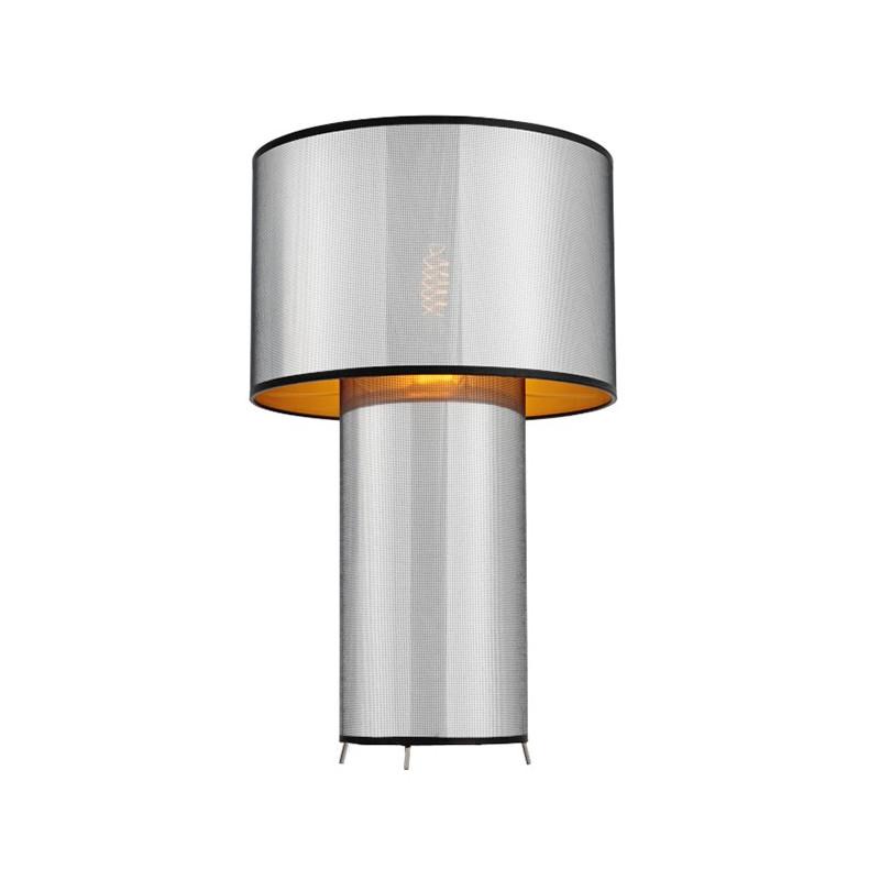 GLAM lampa stojąca chrom/czarny/złoty