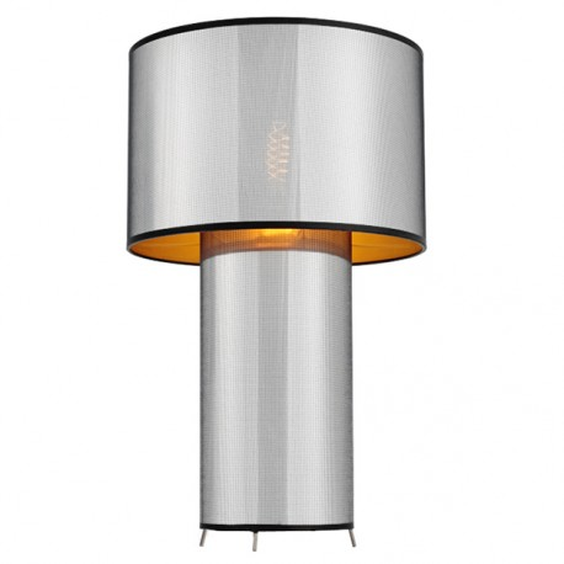 GLAM Standing Lamp Black / Gold / Chrome