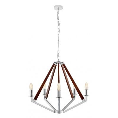 NEZ 5 Pendant Lamp Chandelier Chrome / Nut