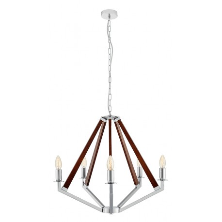 NEZ 5 Pendant Lamp Chandelier Chrome / Nut