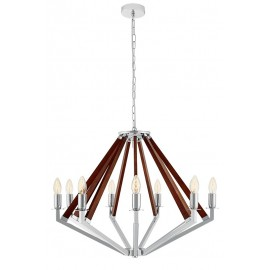 NEZ 9 Pendant Lamp Chandelier Chrome / Nut