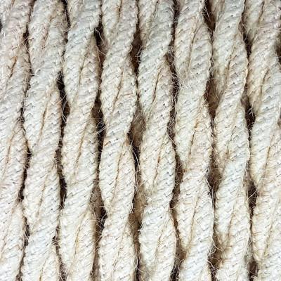 Kabel w oplocie jutowym J02 dwużyłowy 2x0.75