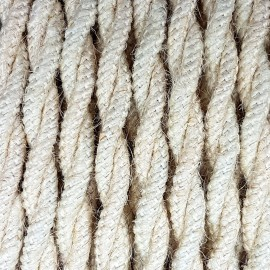 Twisted electric cable covered by Natural Jute J04 2x0.75