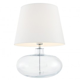 Sawa Standing Lamp Transparent / Chrome / White Lampshade
