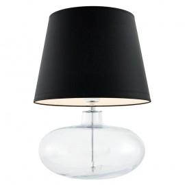 Sawa Standing Lamp Transparent / Chrome / Black Lampshade