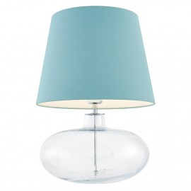 Sawa Standing Lamp Transparent / Chrome / Sea Color Lampshade
