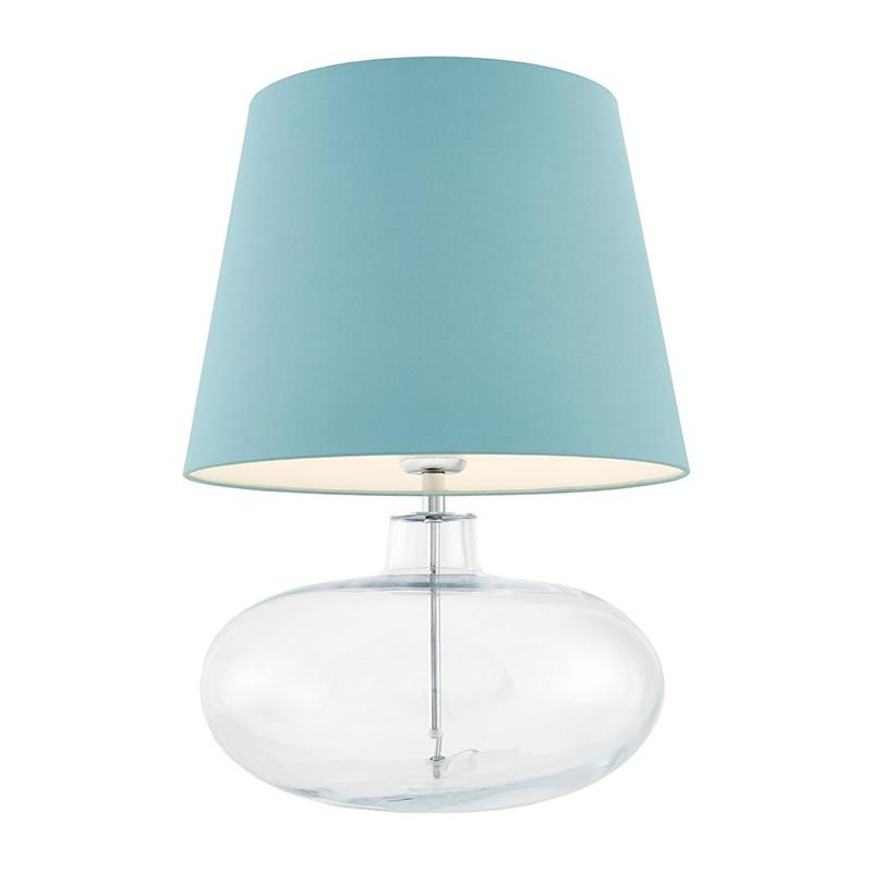 Sawa lampa stołowa przezroczysta / chrom / abażur morski
