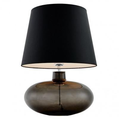 Sawa lampa stołowa grafit mat / chrom / abażur szary