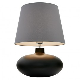 Sawa Standing Lamp Graphite Matte / Chrome / Grey Lampshade