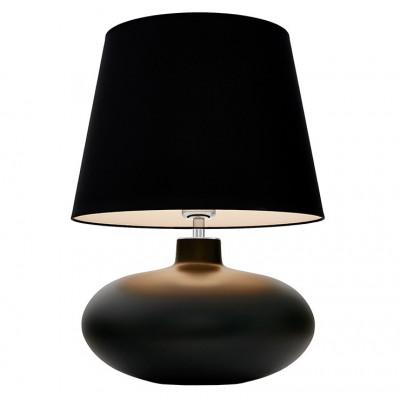 Sawa lampa stołowa grafit mat / chrom / abażur czarny