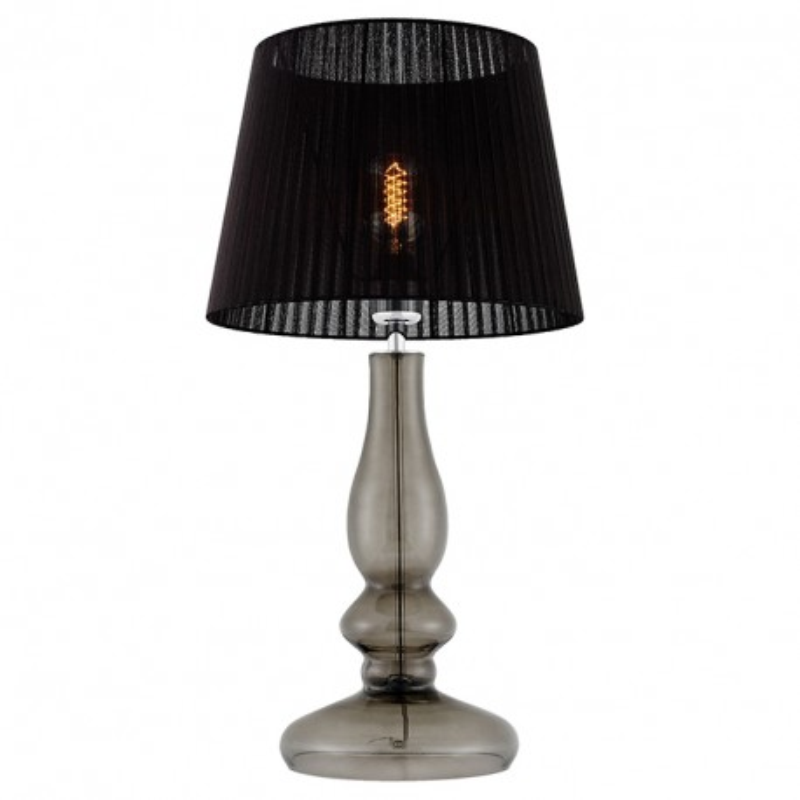 Clar Standing Lamp Smoky / Chrome / Black Organza Lampshade