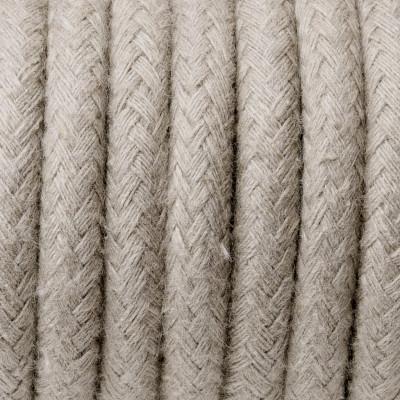 Kabel w oplocie bawełnianym B01 piasek sahary trzyżyłowy 3x0.75