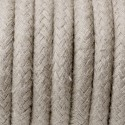 Round electric cable covered by cotton B01 Sahara sand 3x0.75