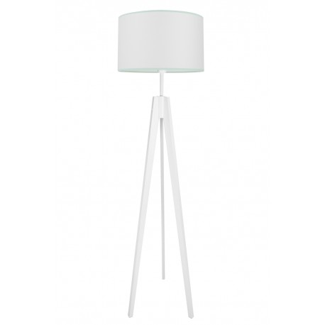 Porcelain white with mint floor lamp