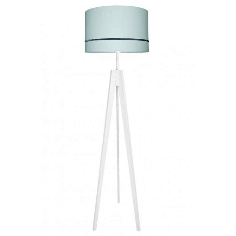 Lampa podłogowa porcelanowa mięta