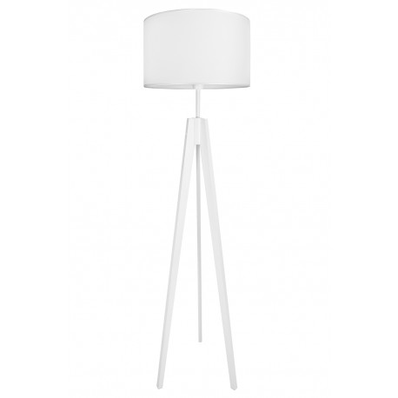 Lampa podłogowa porcelanowa biel