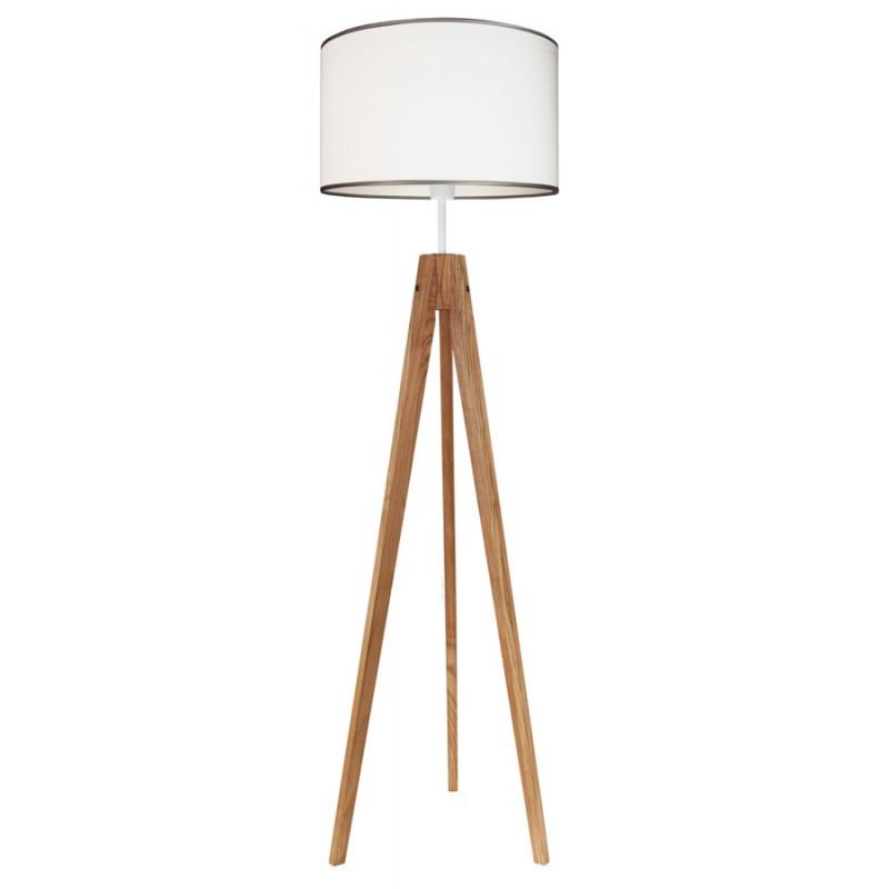 Lampa podłogowa srebrzysta biel