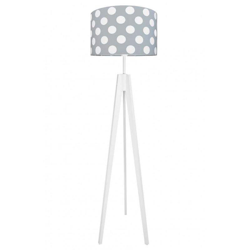 Dots on grey floor lamp