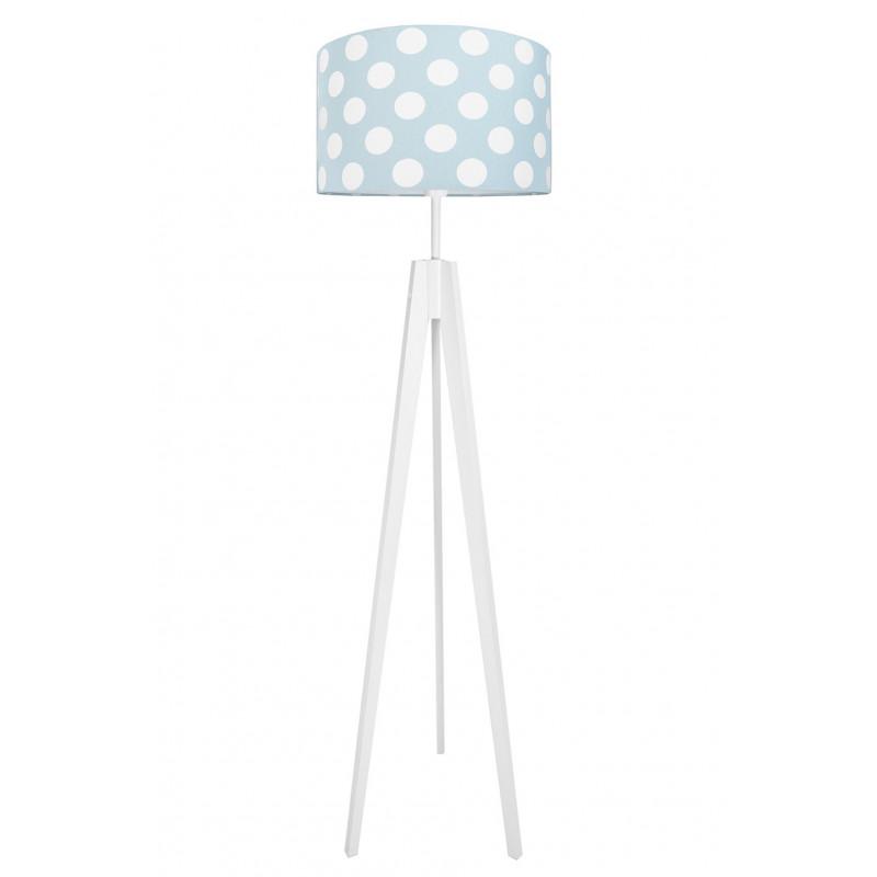 Dots on mint-turquoise floor lamp