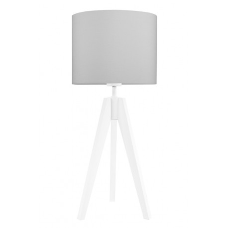 Lampa na stolik czysta szarość