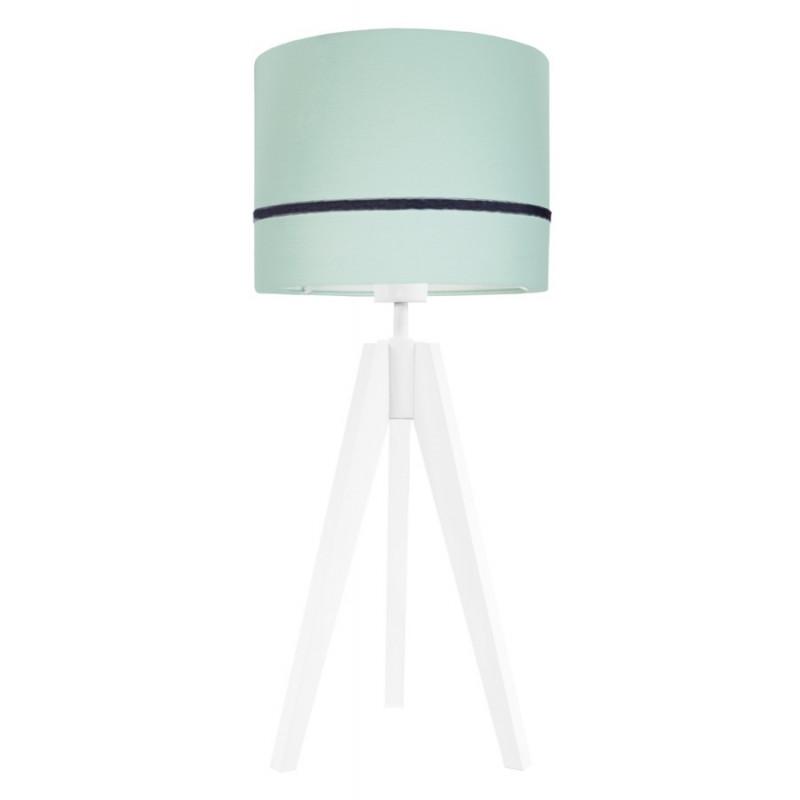 Lampa na stolik porcelanowa mięta