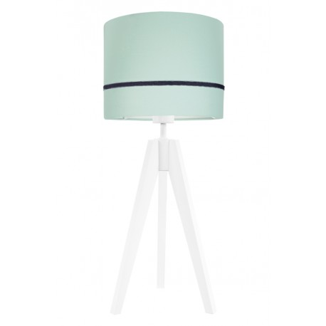 Porcelain mint table lamp