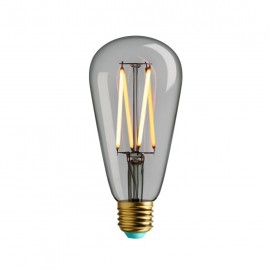 Decorative light bulb LED 4,5W Plumen WattNott Willis Clear Glass Warm Light ST64