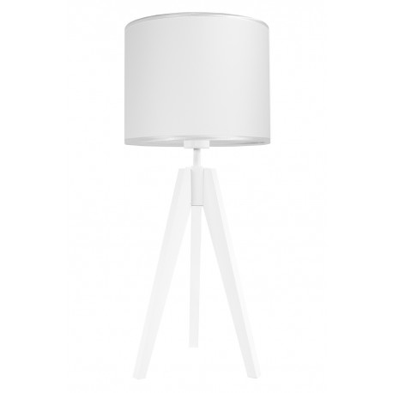 Lampa na stolik porcelanowa biel