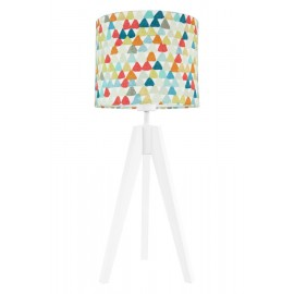 Colorful triangles table lamp